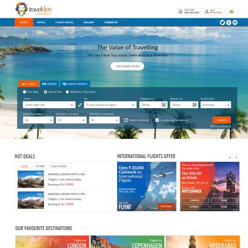 Travelden Booking Engine Website