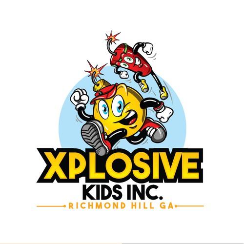 Xplosive Kids Logo and Mascot