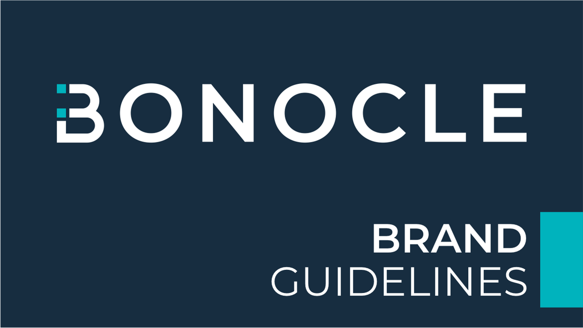 Bonocle Braille Entertainment Device Brand Guideline