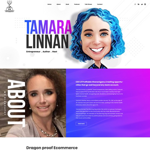 Personal Branding user interface and experience, design