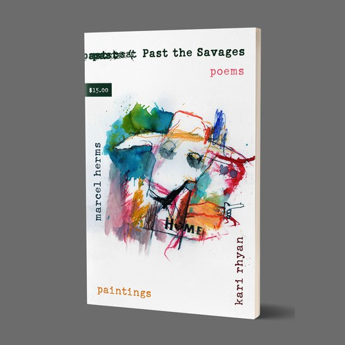 Poetry book cover - Past the Savages