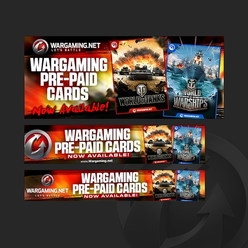 Wargaming Pre-Paid Card Banner Ad Design