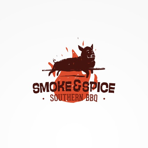 Eye-catching logo for a BBQ restaurant