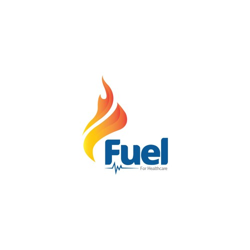 Fuel our Healthcare Software Startup's logo and cards.
