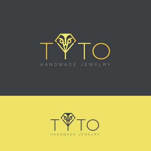 logo concept for a jewelry brand using a tyto-owl