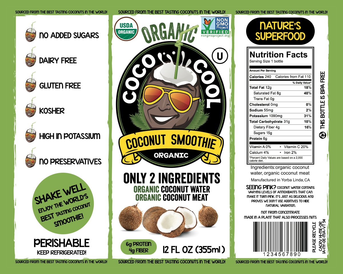 Coco Cool Product Label