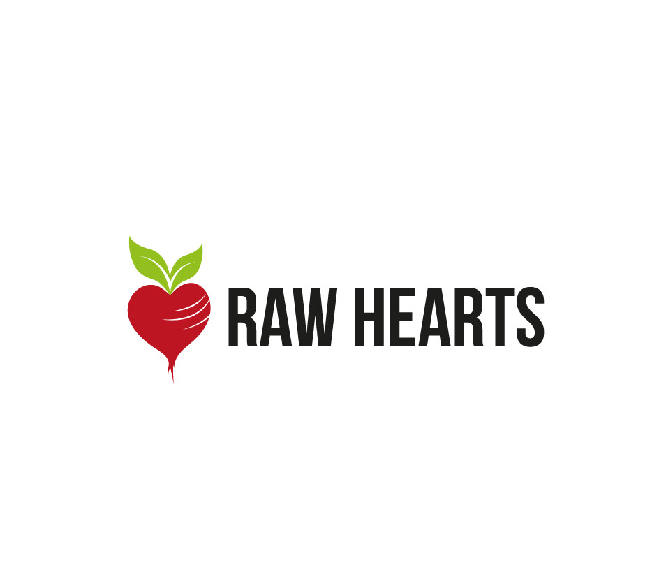 Raw Hearts  (New logo design for a Raw Food lifestyle blog)