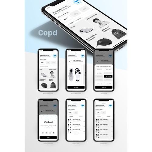 Mobile app shop design