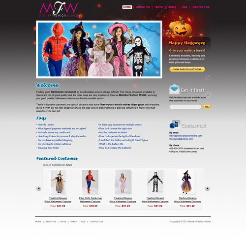 Help Monika Fashion World with a new website design