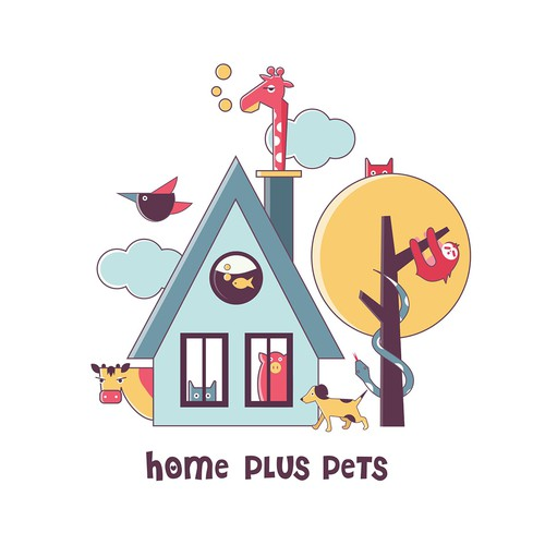 Logo for Home plus Pets