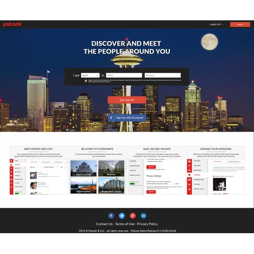 Re-design patook.com's homepage