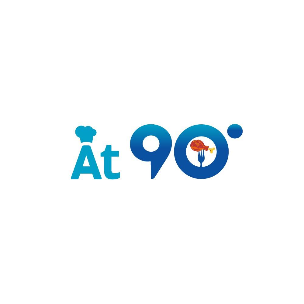 Logo for casual dining restaurant ( 90 degrees)
