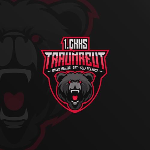 Angry Bear Emblem Logo