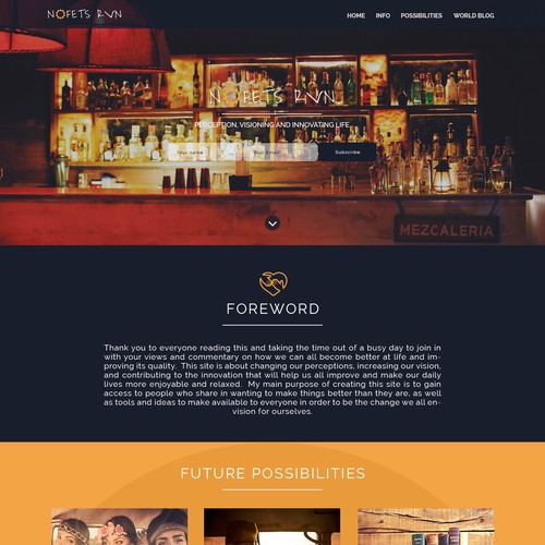 Second version of landing page for Nofets Run
