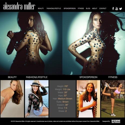 Alexandra Miller Website Design