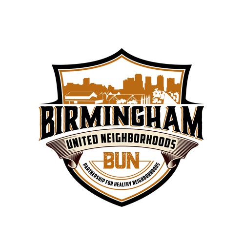 Bold logo for a neighborhood in birmingham