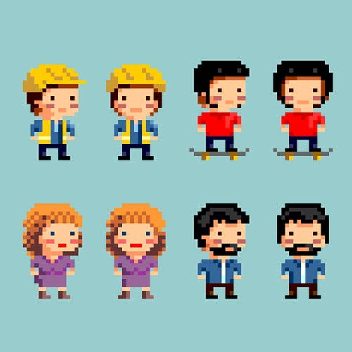 8-bit characters for a game