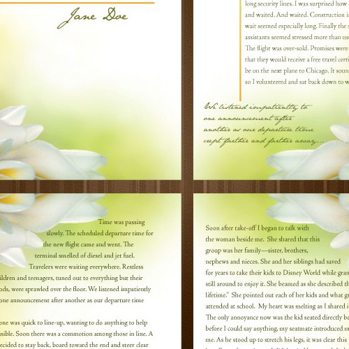 Interior Book Design (4 page spread) for New Women's Devotional