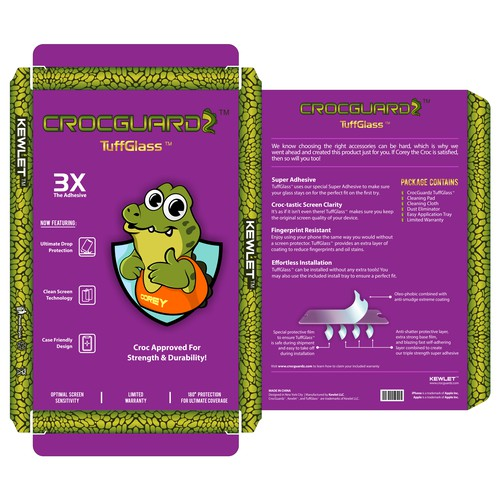 Crocguardz package design