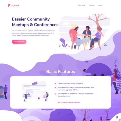 Illustrated Landing Page