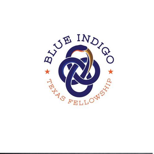 Bold logo for Fellowship Org. - Blue Indigo from Texas