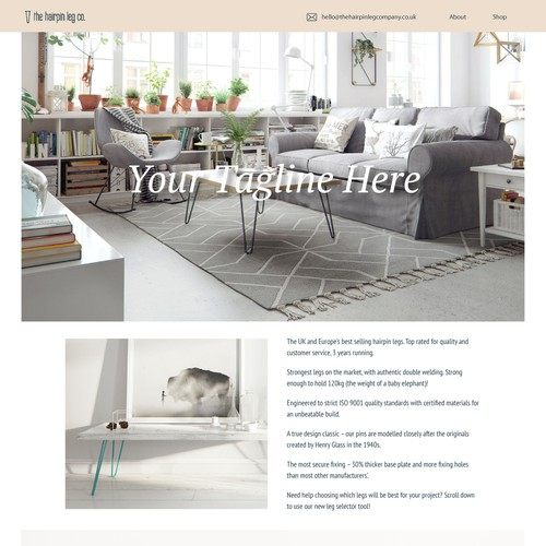 Hairpin Legs Homepage Redesign