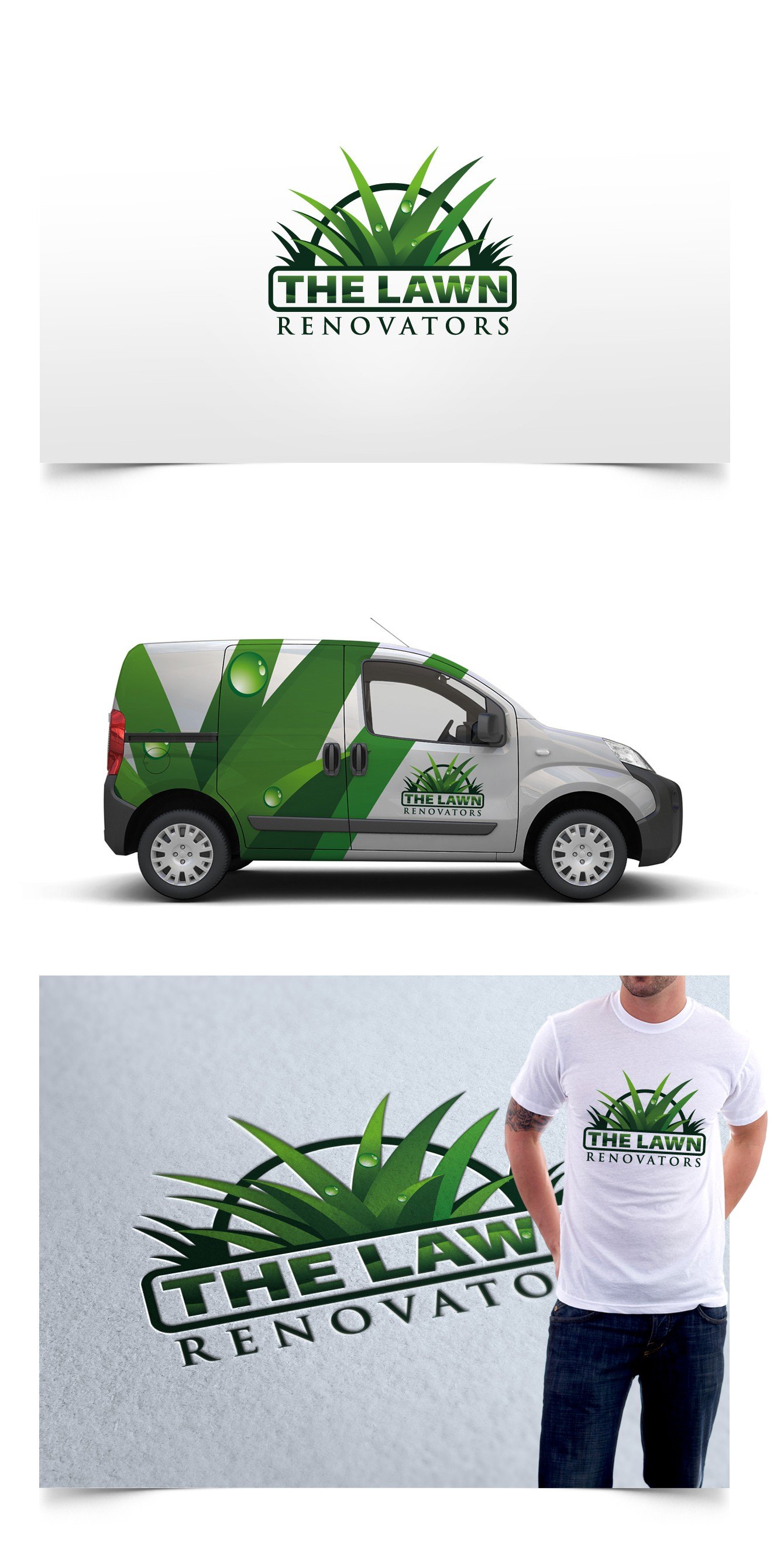 Create the next logo for The Lawn Renovators
