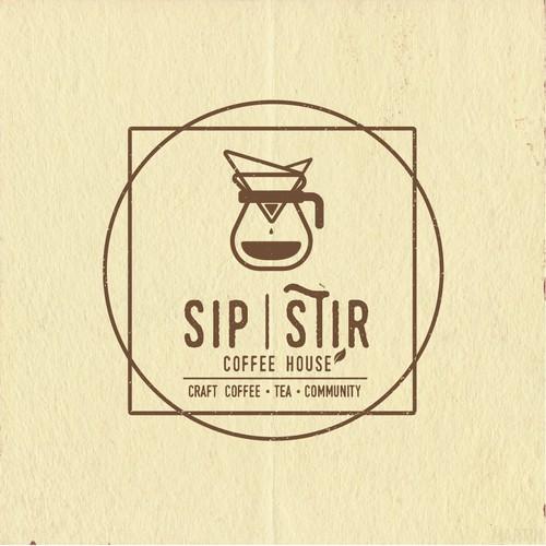 Vintage/Hipster Logo Design for a Coffee Shop