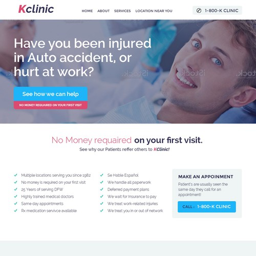 Kclinic WebSite Design.