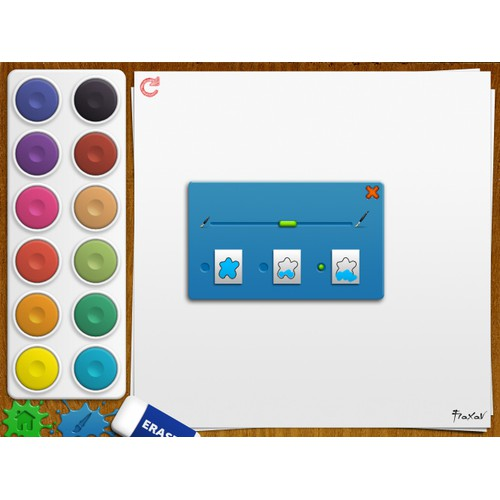 New UI for iPad Drawing Book app