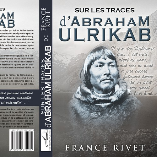 Book cover - True story of eight Inuit who died in Europe in 1880 while being exhibited in zoos