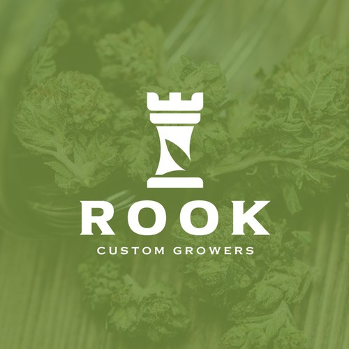 Bold Modern Logo with a classic feel for Rook Custom Growers, a Cannabis Producer