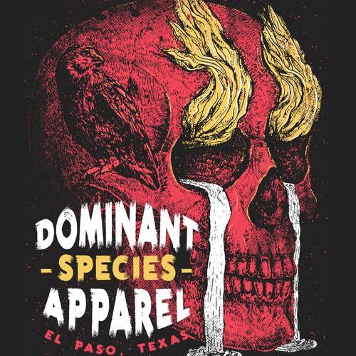 Illustrated shirt design for apparel brand