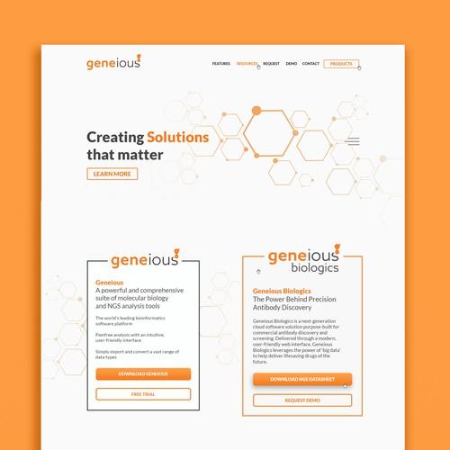 Genious Website Concept