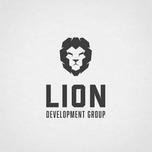 Strong lion logo for real estate developers