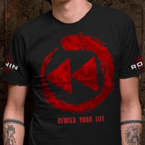 T-shirt illustration for Ronin Training