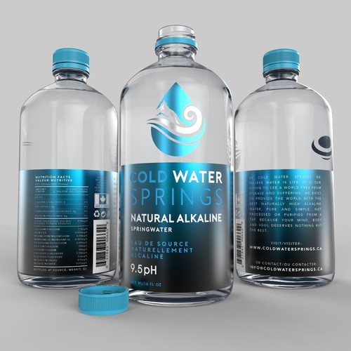 3D Rendering and Label design for Cold Water Springs