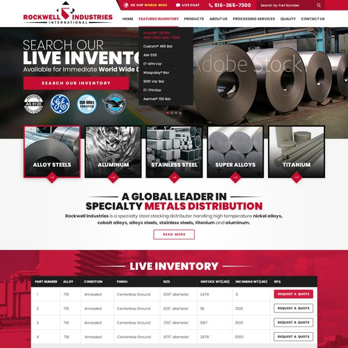 Reinvent Rockwell Industries International's Website.