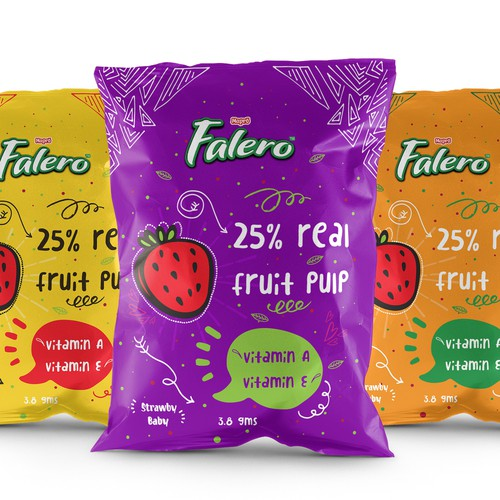 fruity fun packaging for a fruity snack