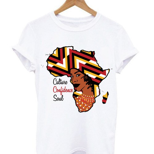 Africa Inspired T-Shirt Design for Women