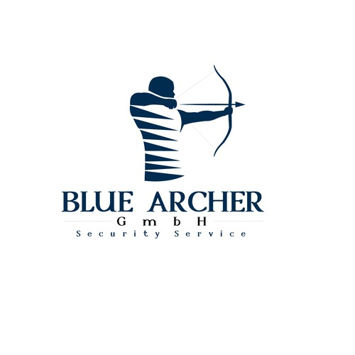 abstract logo blue archer