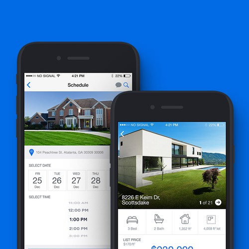 Iphone Screen for Property Company