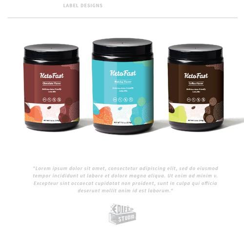 Label design for a keto based drink