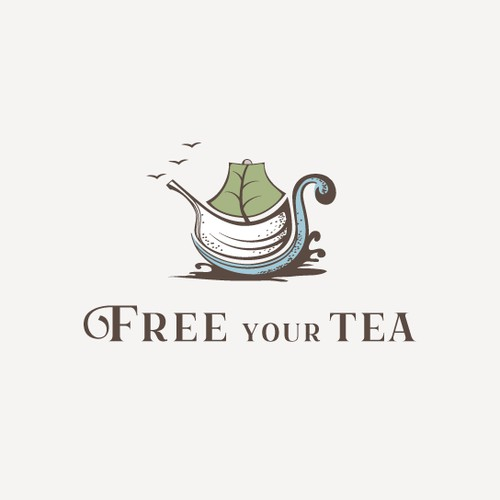 Creative tea company logo