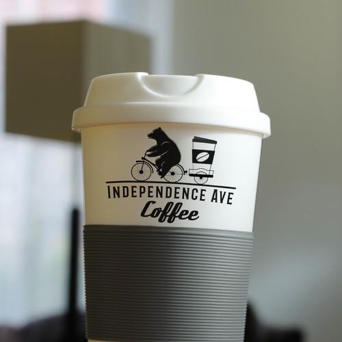 playful logo idea for street coffee sellers