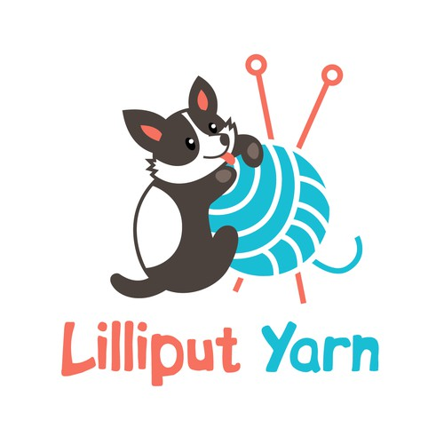 Contest work: Lilliput Yarn needs a new logo including a corgi and yarn