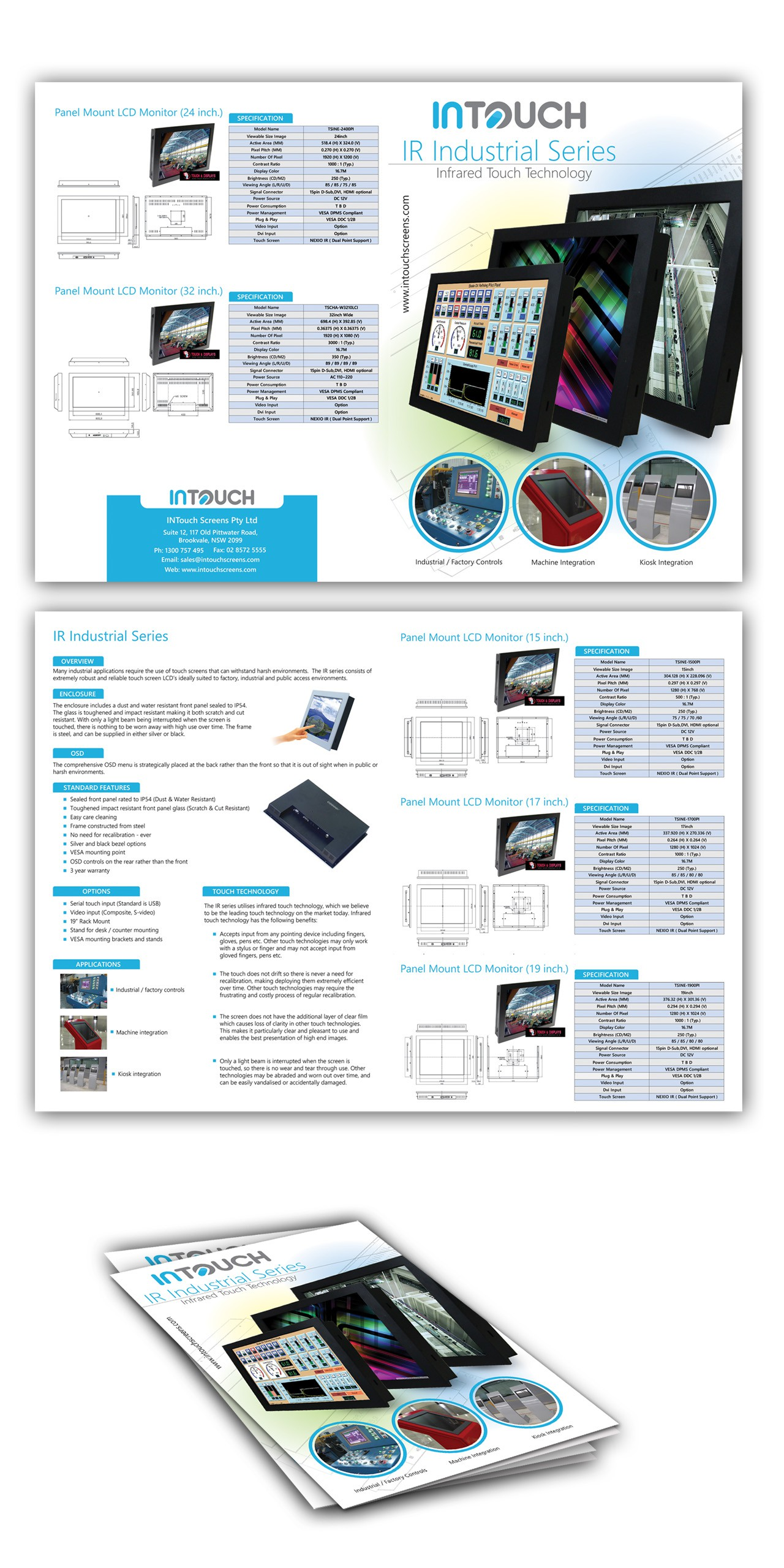 Create a great technical brochure for InTouch Australia