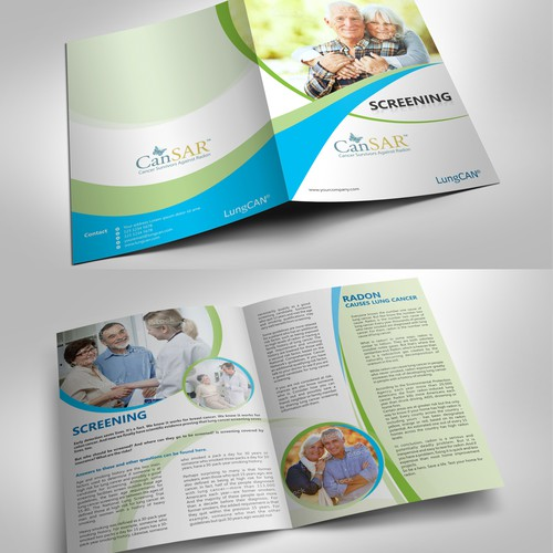Create a Brochure Template for Nonprofit Lung Cancer Community