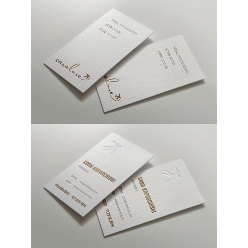 Design a stunning & luxurious business card for a high end display consulting firm