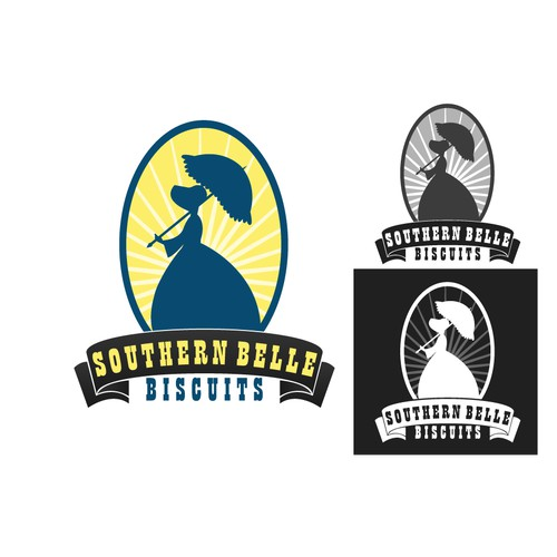 create a logo for Southern Belle Biscuit that captivates the charm of the South